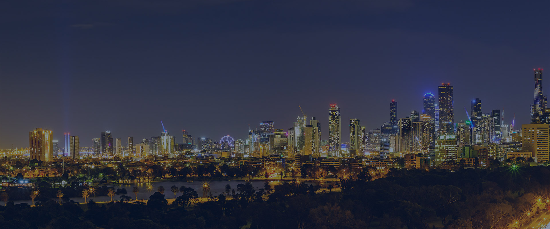 Melbourne-skyline-night